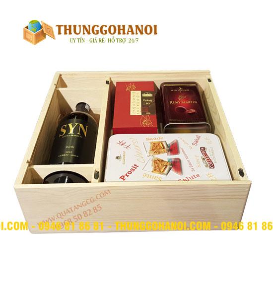 Sản xuất hộp rượu gỗ   Hộp gỗ đựng rượu tại Tp.HCM