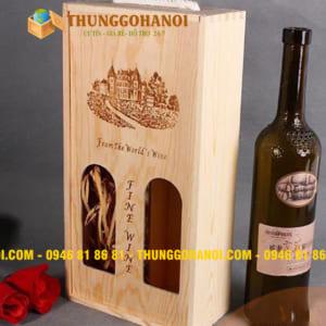 Bán hộp đựng rượu vang bằng gỗ, hộp đựng rượu vang uy tín cao cấp