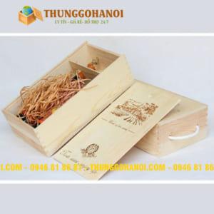 Xưởng sản xuất hộp gỗ, hộp đựng rượu bằng gỗ, hộp quà gỗ giá rẻ