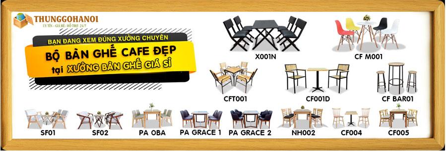 Banner bàn ghế cafe hà nội