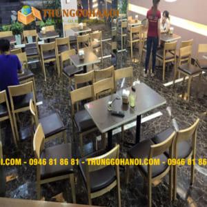 Cung cấp bàn ghế khung sắt mặt gỗ rẻ- bền- đẹp BẢO HÀNH 1 NĂM