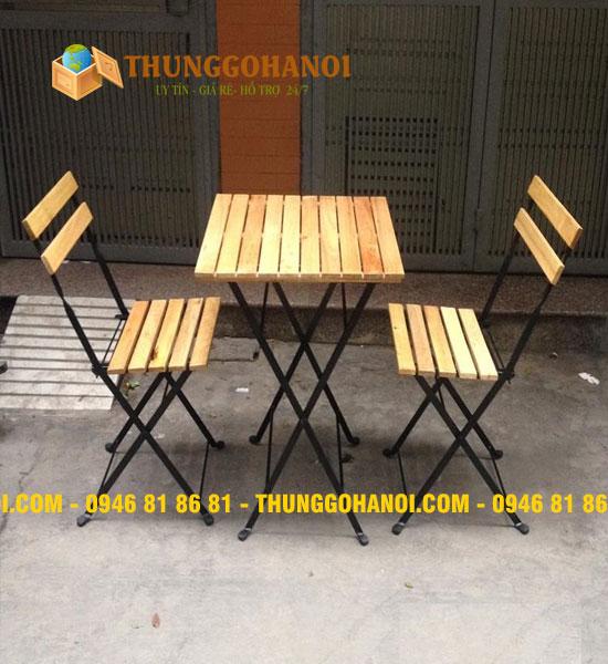 Mẫu bàn ghế gỗ khung sắt cafe đẹp tại HCM