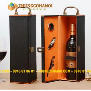 Hộp đựng rượu vang bằng gỗ giá rẻ cao cấp Hải Phòng