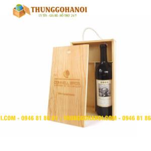 Sản xuất hộp gỗ thông đôi đựng rượu vang - khắc laser trên hộp rượu