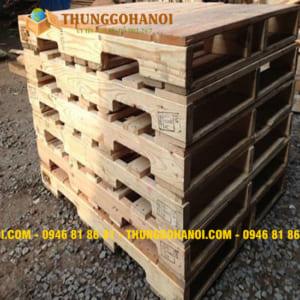Pallet gỗ đố 1 mặt 4 chiều nâng