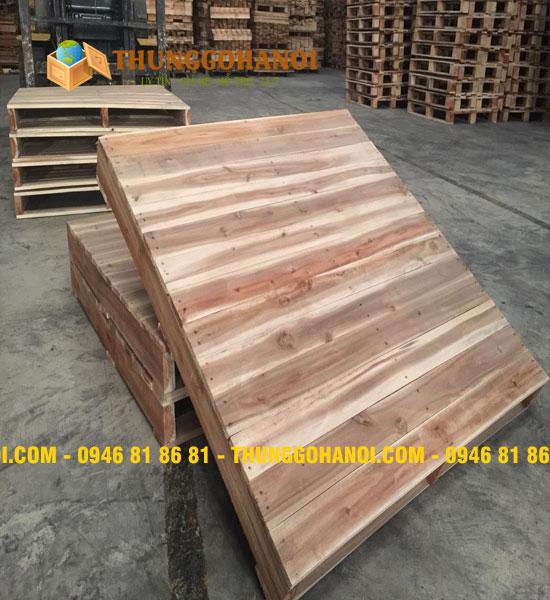 Pallet gỗ đố 1 mặt 2 chiều nâng