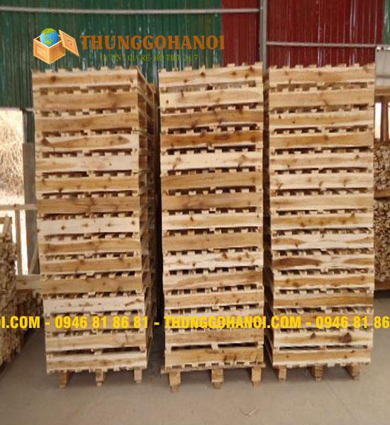 Đóng pallet gỗ cũ theo yêu cầu tại Hà Nội
