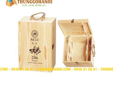 Hộp gỗ đựng rượu tại Bạc Liêu