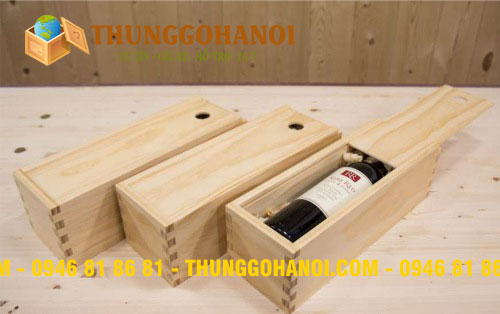 Gia Công Hộp Gỗ Đựng Rượu Vang - Thùng Gỗ Giá Rẻ