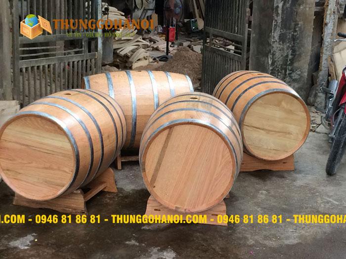 Thùng Gỗ Hà Nội chuyên bán thùng gỗ sồi cũ giá rẻ với nhiều dung tích khác nhau