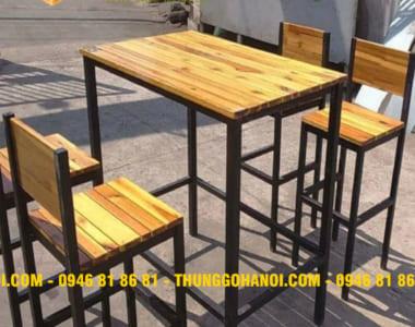 Địa chỉ bán bàn ghế pallet - Nội thất gỗ thông pallet Hà Nội